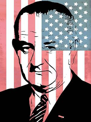 Lyndon Johnson Art Print by Dan Sproul