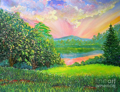 Painting - Nixon' Majestic Day At Gregg's Pond by Lee Nixon