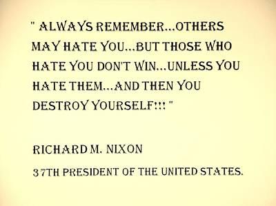 Potus Digital Art - Nixon Quote In Sepia by Rob Hans