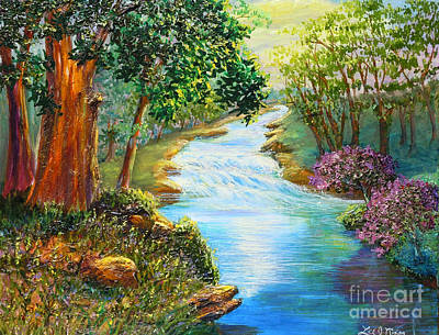 Nixon's A Luminous View Of The Rapidan River Art Print by Lee Nixon