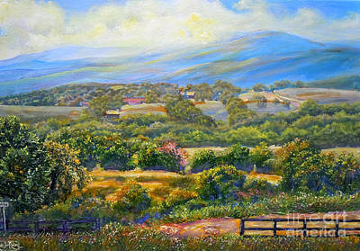 Nixon's A Scenic View On Jacksontown Road 2 Art Print by Lee Nixon