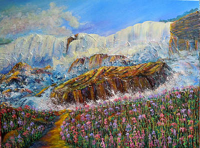 Painting - Nixon's Dynamic Energy Balanced By Tender Beauty by Lee Nixon