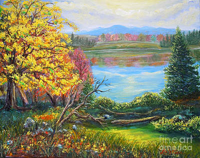 Painting - Nixon's Glorious View Of Fall At Gregg's Pond by Lee Nixon