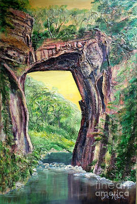 Acylic Painting - Nixon's Glorious View Of Natural Bridge by Lee Nixon
