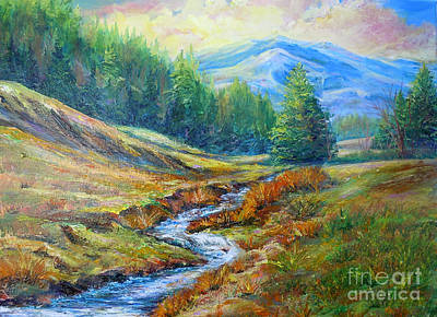 Painting - Nixon's Meandering Stream by Lee Nixon