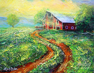 Painting - Nixon's Sunny Day On The Farm by Lee Nixon