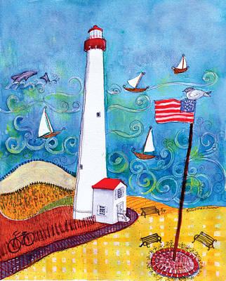 Nj Lighthouse Original by Deborah Burow