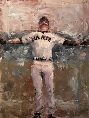 Baseball Art Painting - Nlcs Rain by Darren Kerr