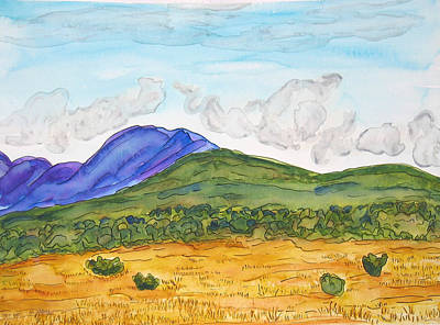 Painting - Nm Hills And Mountains by Kerry Bennett
