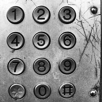 I Phone Photograph - Números.  #teléfono #phone #telephone by Juan Parafiniuk