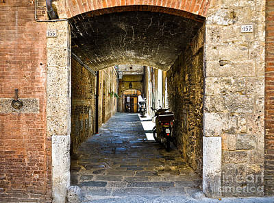 No 155 And 157 - Siena Art Print