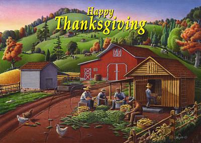 no 16 Happy Thanksgiving Original by Walt Curlee