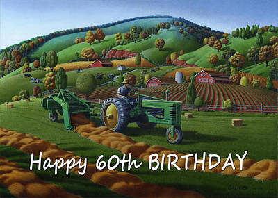 no 21 Happy 60th Birthday Original by Walt Curlee