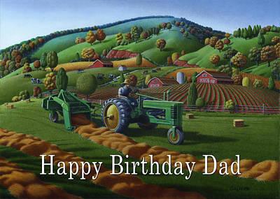no 21 Happy Birthday Dad Original by Walt Curlee