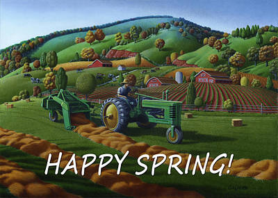 no 21 Happy Spring 5x7 greeting card  Original by Walt Curlee