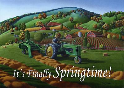 Thomas Benton Painting - no 21 Its Finally Springtime 5x7 greeting card  by Walt Curlee