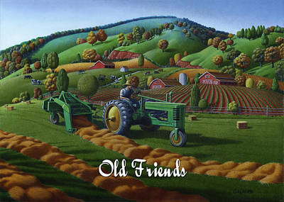 Bales Painting - no 21 Old Friends by Walt Curlee