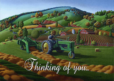 no 21 Thinking of you 5x7 greeting card  Original by Walt Curlee