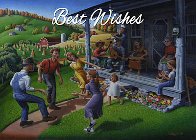 No 23 Best Wishes Friendship Greeting Card Original by Walt Curlee