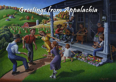 No 23 Greeting From Appalachia Friendship Greeting Card Original
