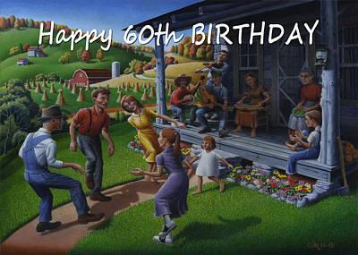 No 23 Happy 60th Birthday Greeting Card Original by Walt Curlee