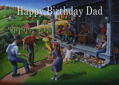 No 23 Happy Birthday Dad Greeting Card Original by Walt Curlee