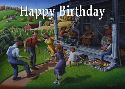 No 23 Happy Birthday Greetings Card Original by Walt Curlee