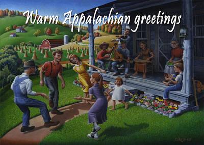No 23 Warm Appalachian Greetings Friendship Greeting Card Original by Walt Curlee
