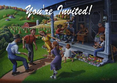 No 23 You Are Invited Invitation Greeting Card Original