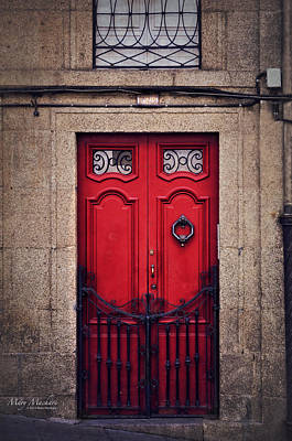 Painted Door Photograph - No. 24 - The Red Door by Mary Machare