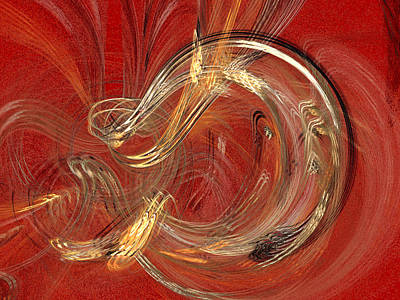 Digital Art - No. 4. Vibration Of Red by Zsuzsa Balla