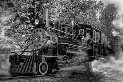 Photograph - No. 5 Train by Bill Wakeley