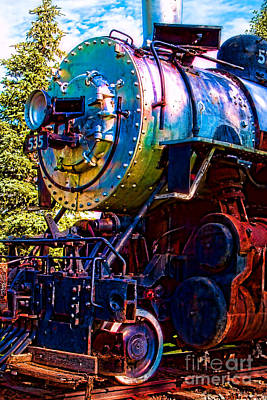 Photograph - No. 535 Blast O' Colors by Lawrence Burry