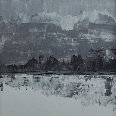 Grey Clouds Painting - No. 72 by Diana Ludet