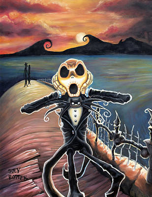 Nightmare Before Christmas Wall Art - Painting - No Animal Nor Man by Joey Rotten