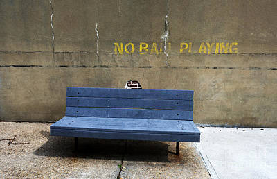 Photograph - No Ball Playing by John Rizzuto