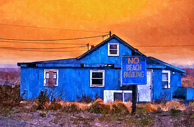 Painting - No Beach Parking by Rick Mosher
