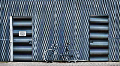 Abstracted Photograph - No Bikes Please by Linda Wride