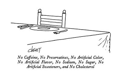 Sugar Drawing - No Caffeine by Tom Cheney