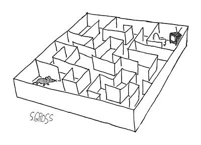 Maze Drawing - No Caption by Sam Gross