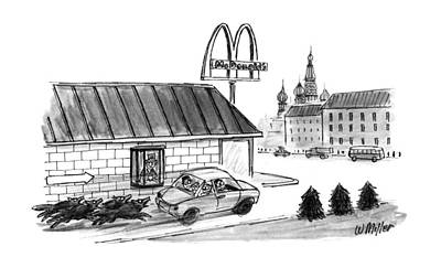 Moscow Drawing - No Caption by Warren Miller