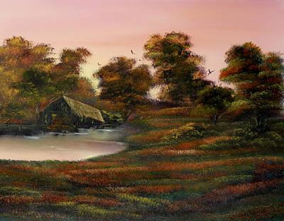Rickety Bridge Painting - Life's Tapestry by Cynthia Adams