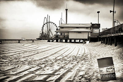 Seaside Heights Photograph - No Crowds by John Rizzuto