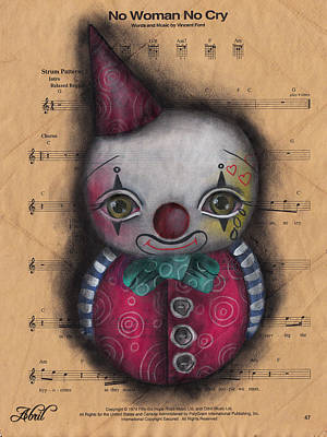 Painting - No Cry Clown by  Abril Andrade Griffith