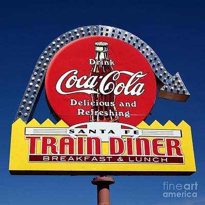 Coca-cola Sign Photograph - No Dinner At The Diner by Mel Steinhauer