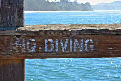 Photograph - No Diving by Bill Owen