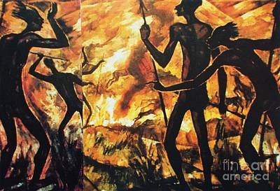No Fire For The Antelopes Art Print by Pg Reproductions
