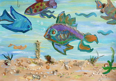 Painting - No Fishing by Brenda Ruark