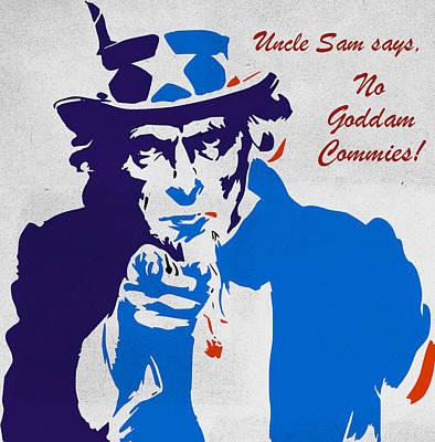 Revolution Digital Art - No Goddam Commies by T Lang