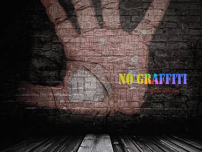 Digital Art - No Graffiti by ISAW Gallery